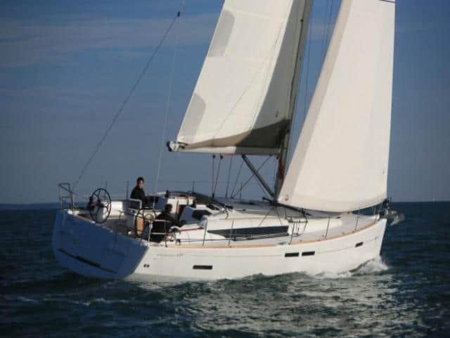 Jeanneau Sun Odyssey 439 under sails!