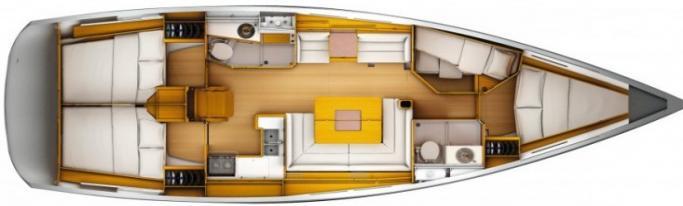 Jeanneau Sun Odyssey 439   layout